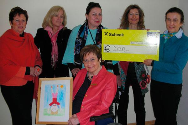 Der Soroptimist International Club spendet 2000€ an das Kinderschutzzentrum Innsbruck