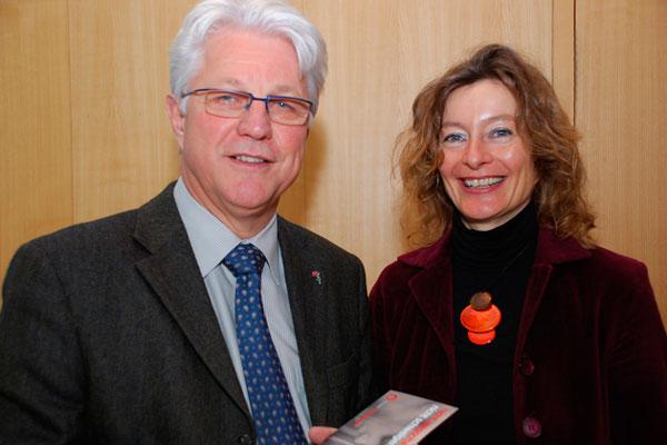 Reheis und Karin Hüttemann vor der Kamera
