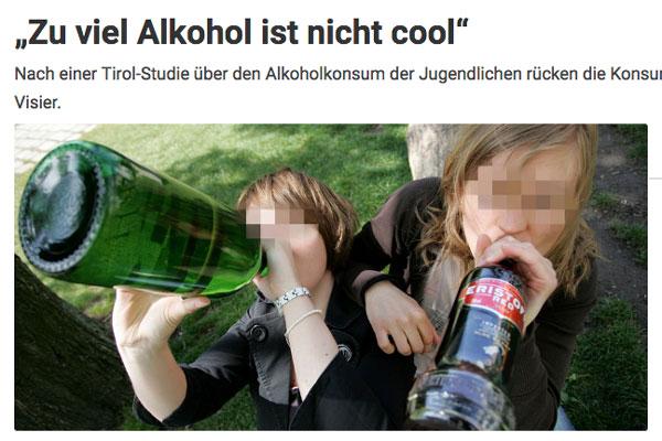Artikel, Alkohol ist nicht cool