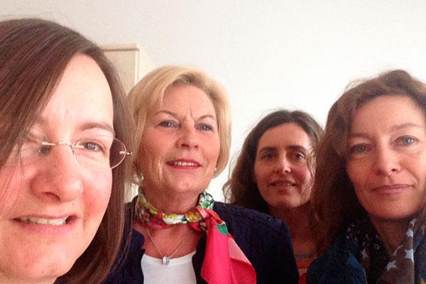 Gruppenfoto - Cornelia Köll-Senn, Christine Handl, Verena Heiß, Karin Hüttemann