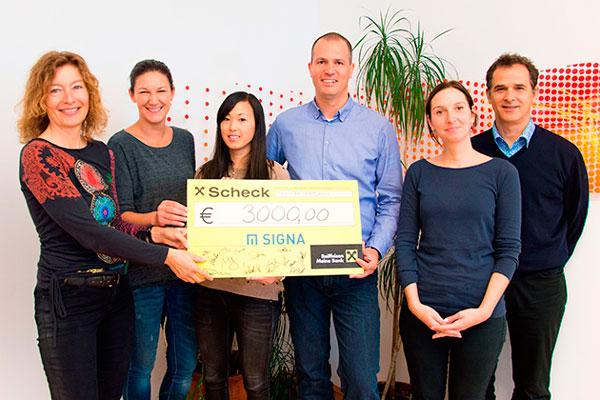 Firma Signa spendet 3000€ an den Kinderschutz