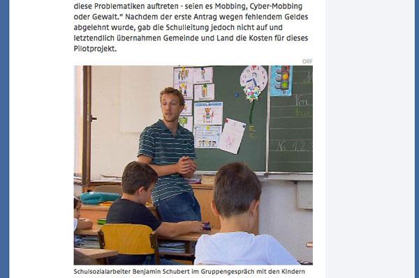 Sozialarbeiter erstmals auch an Volksschulen