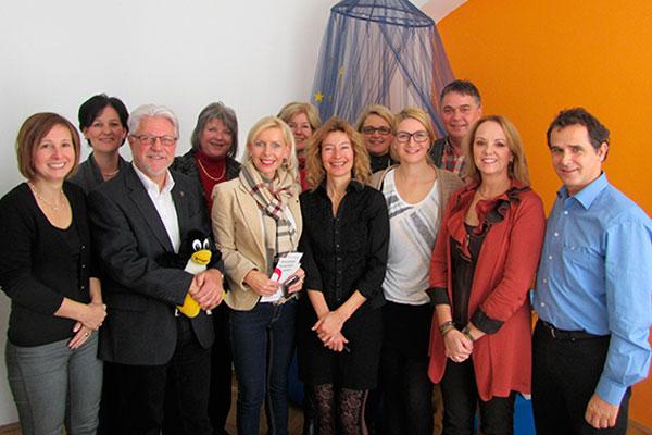 Anwesende beim Besuch des Landtags-Ausschusses für Soziales, Gesundheit und Arbeit