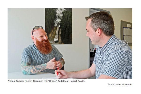 Philipp Bechter im Gespräch mit Krone Redakteur Hubert Rauth