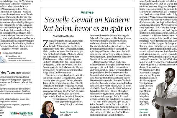 Artikel in der Tiroler Tageszeitung