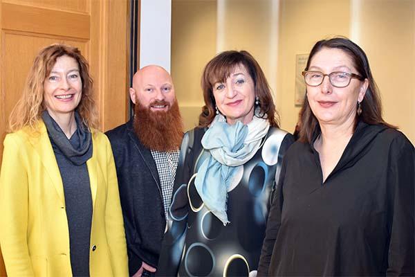 Gruppenbild Karin Hüttemann, Philipp Bechter, LRin Beate Palfrader, LRin Christine Baur