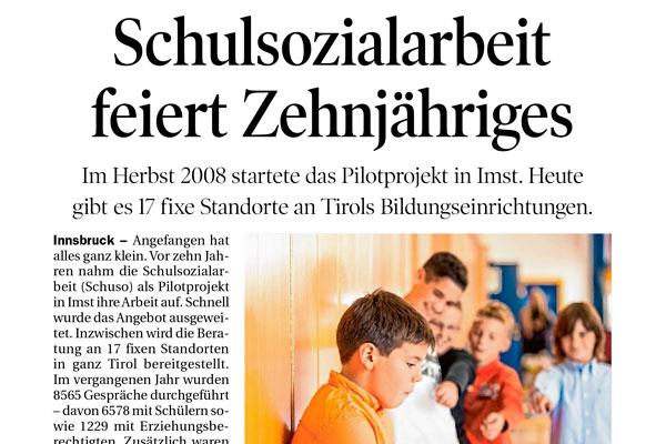 """Thumbnail """"Schulsozialarbeit feiert Zehnjähriges"""""""