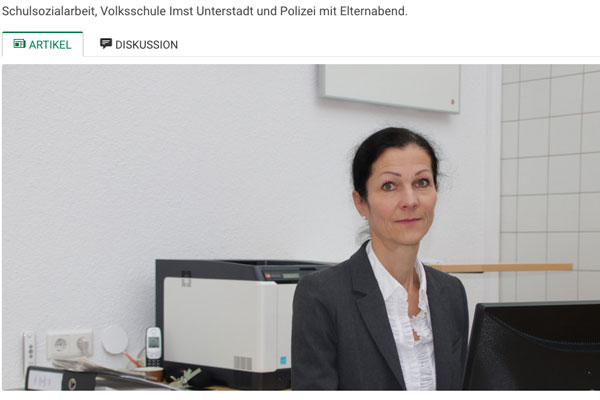 """Zeitungsartikel """"Sicherheit der Schüler im Web"""""""