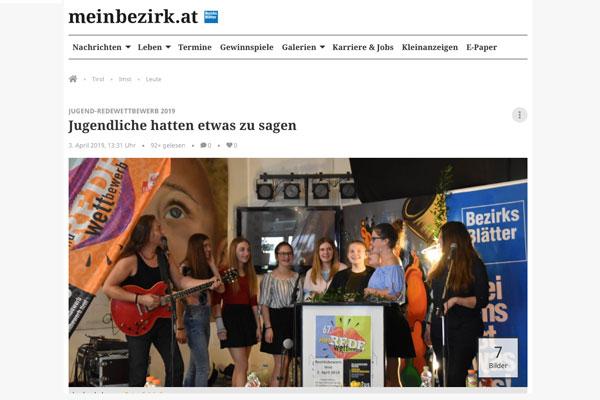 Thumbnail für Zeitungsartikel MeinBezirk