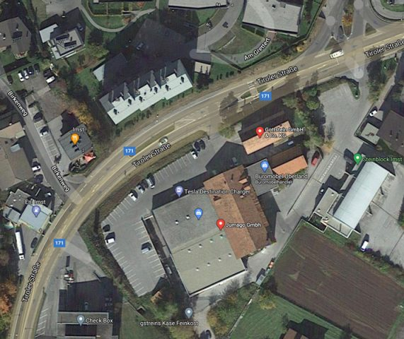 Maps Ansicht vom neuen Standort Kinderschutz Imst