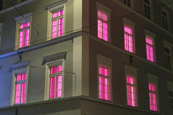 Weltmädchentag pinke Fenster